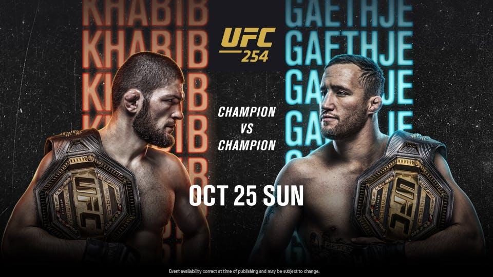 UFC 254 Khabib v Gaejthe
